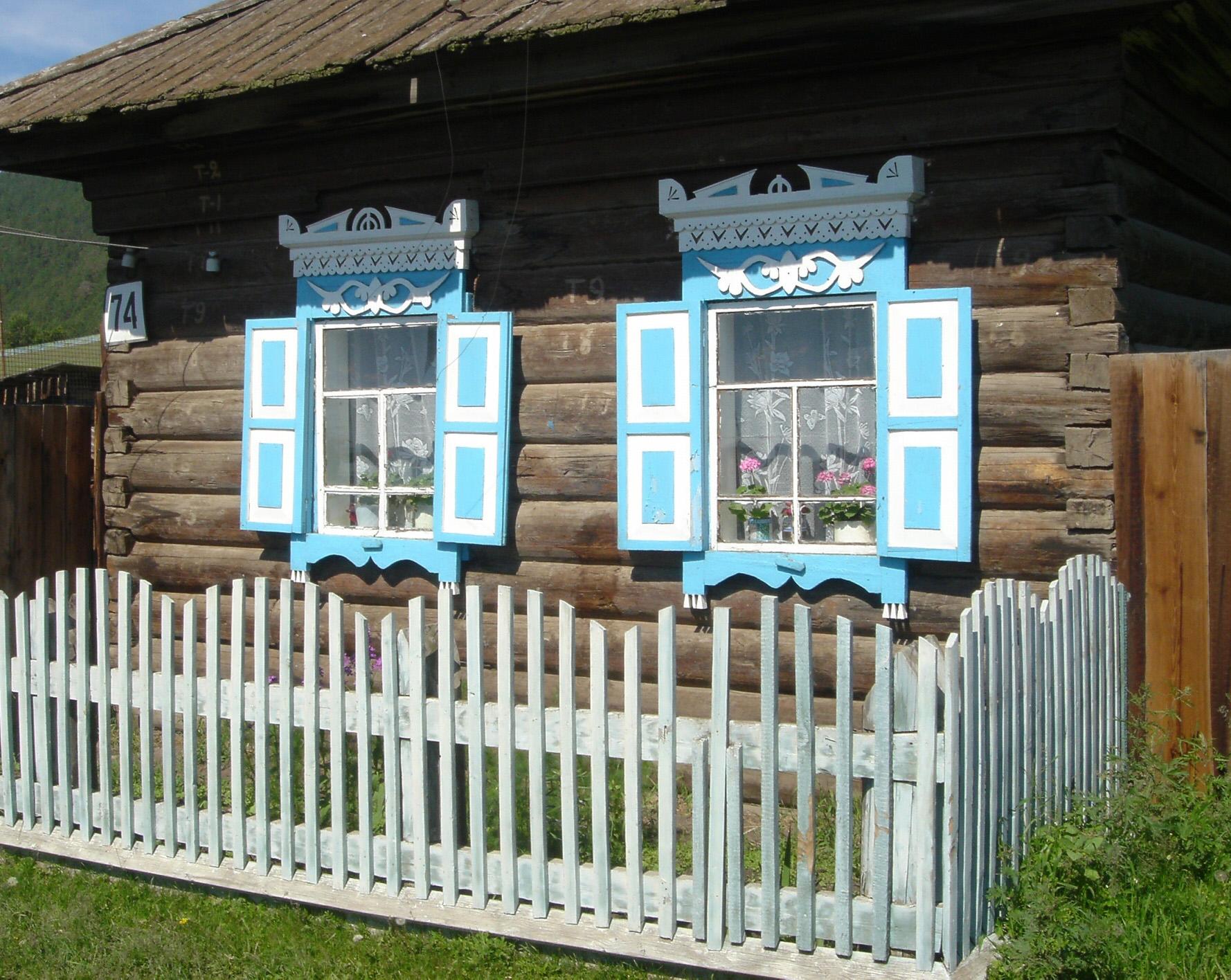 Beautiful Window Shutters on Siberian Village Home