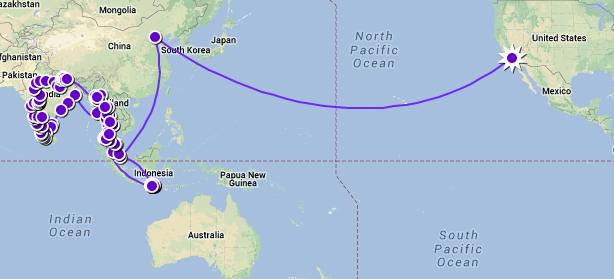 big trip closer in map 2012 to 2013