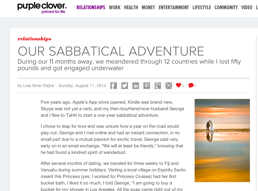 purple clover sabbatical aug 2013