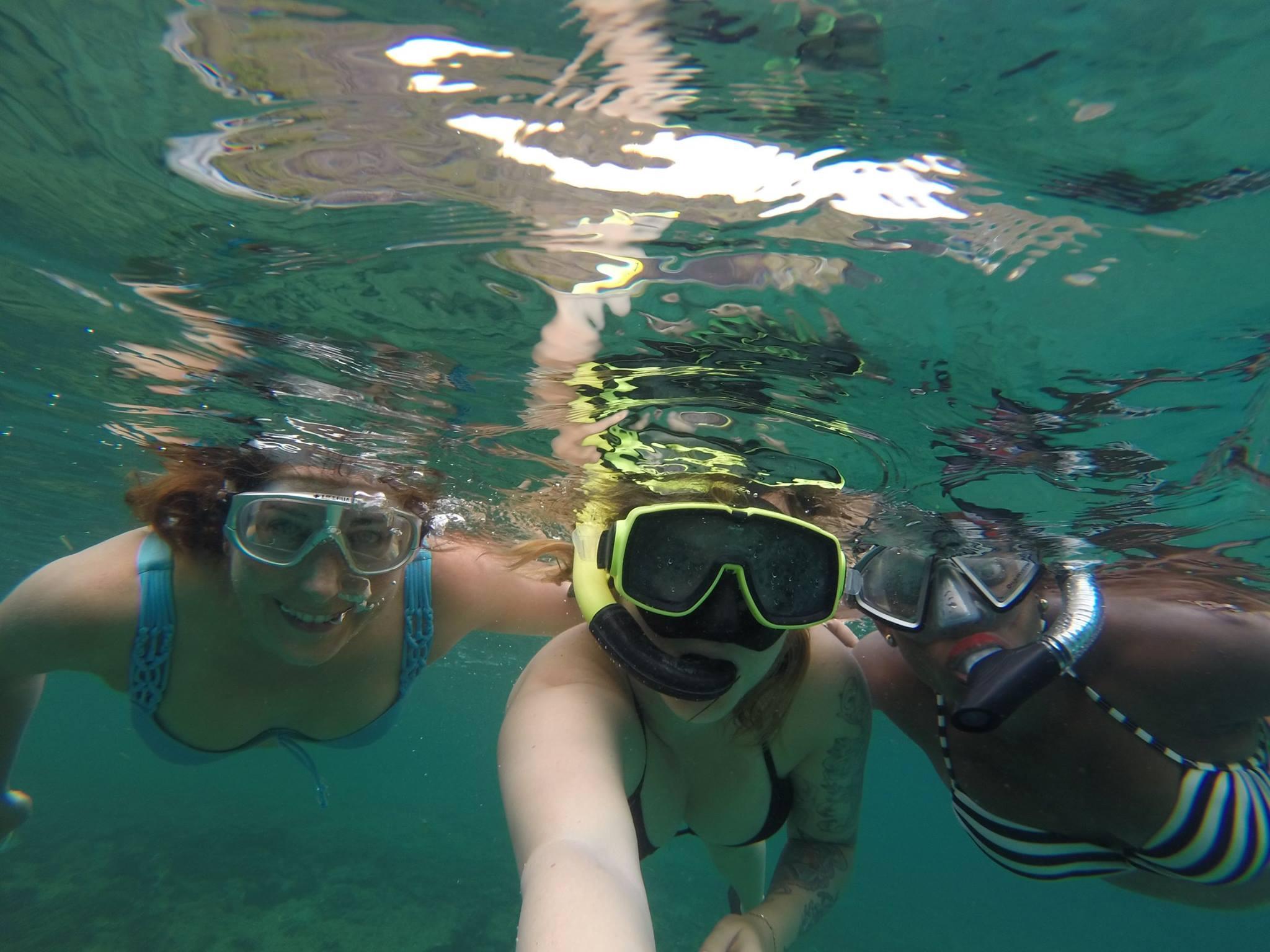 bre lisa kellee snorkeling