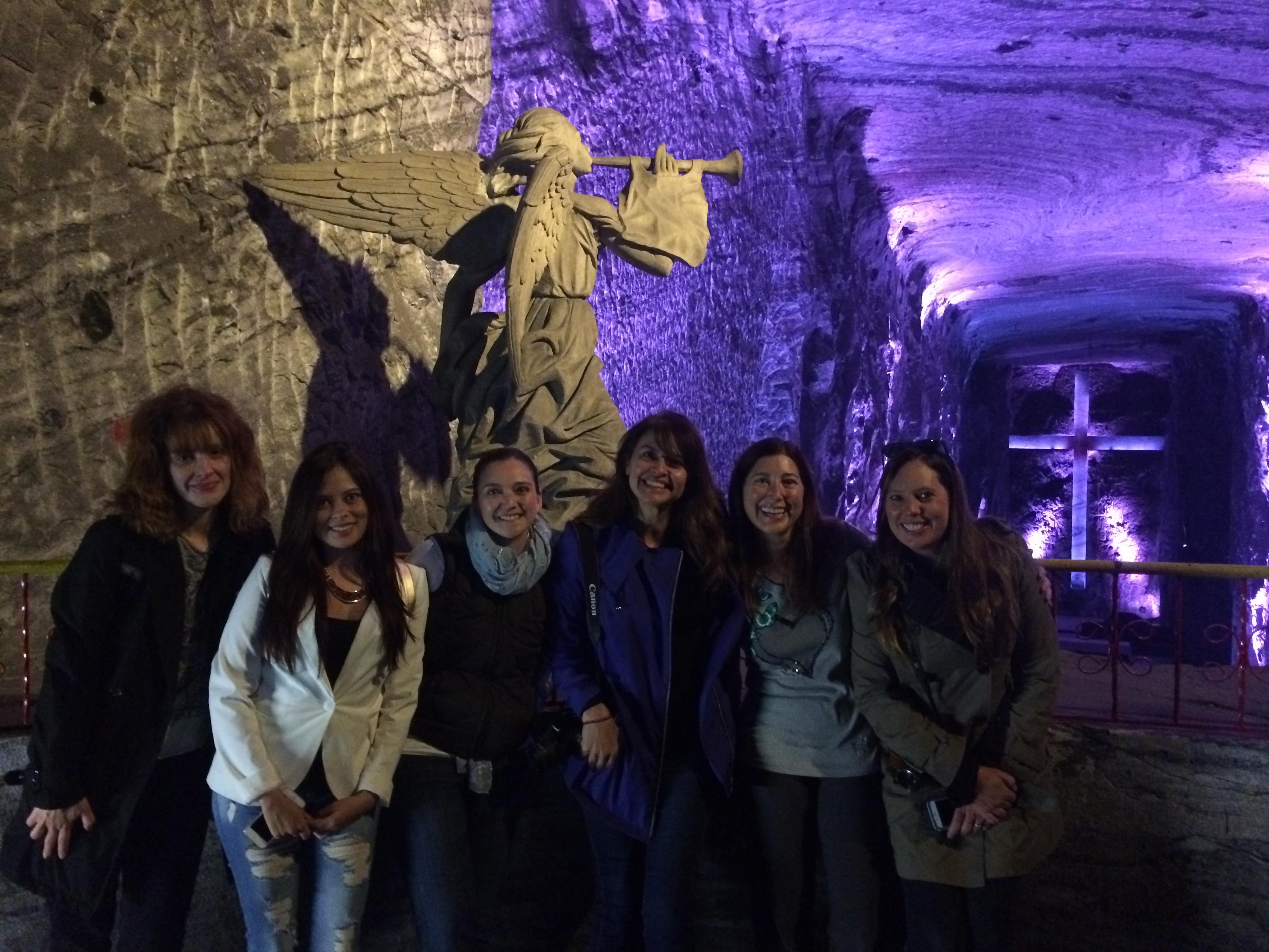 Group salt cave