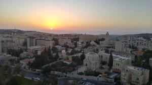 Sunrise in Jerusalem, October 2015 by Lisa Niver
