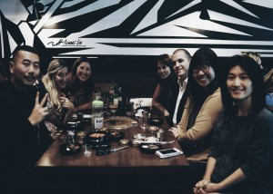 Artist, Tommii Lim, Sara, Lisa, Trish, Mike, Angela, Camellia at Hanjip
