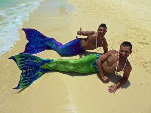 Nomadic Boys as mermaids, Boracay, the Philippines, June 2015