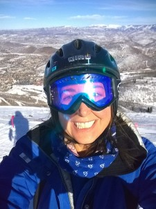 Lisa Niver skiing Park City in winter