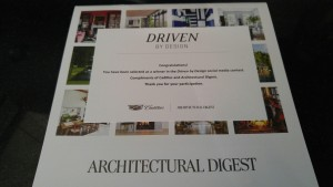 Driven by design AWARD