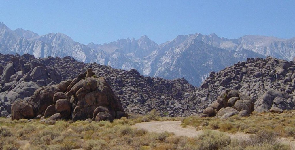 Alabama Hills, Movie Road. Mt Whitney in background. A Don Graham photo.
