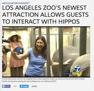 Lisa abc7 hippo selfie