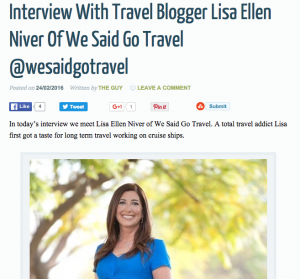 Interview feb 2016 travel blogger interview