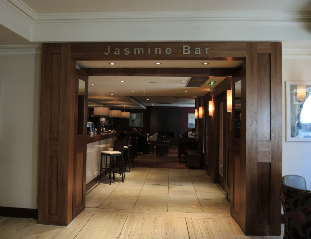 Entrance to the Jasmine Bar at the Brooks Hotel is right from the lobby of the Brooks Hotel.