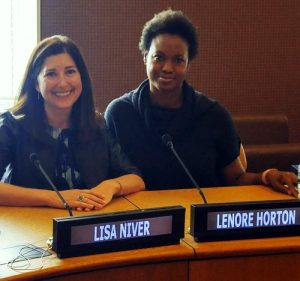 Lisa Niver & Lenore Horton, Champions for Humanity at the United Nations, New York Headquarters